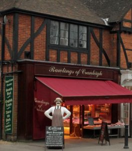 Artisan sausages in Surrey