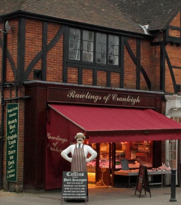 Artisan sausages in Surrey