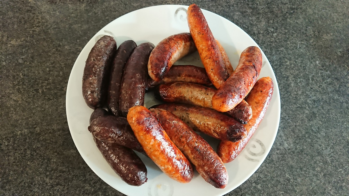 Artisan gourmet sausages in the south of England