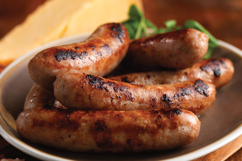 Lincolnshire sausages. Popular English sausages