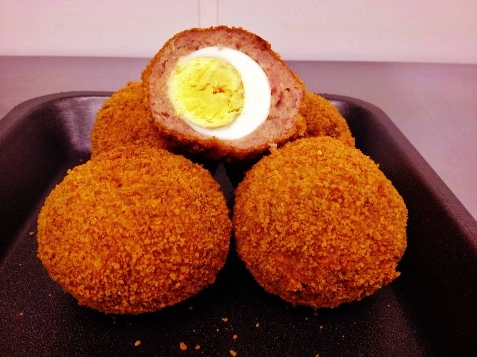 Homemade scotch eggs Midhurst South Downs West Sussex